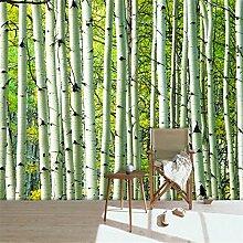 Lqwx 3D Wandbild Tapeten für Wände 3d Wohnzimmer TV Hintergrund Tapete Birke papel de parede papier peint papel Pintado-120cmX100cm