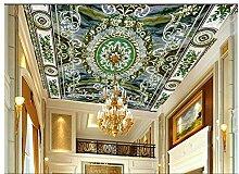 Lqwx 3D-Wandbilder Tapeten Europäischen Style Die Decke Kunst Parkettboden Fliesen Tapeten 400 Cmx 280 Cm