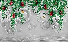 Lqwx Benutzerdefiniertes Hintergrundbild Modernen Tapeten Für Kinder Zimmer Rose Hintergrund 3D-Wand Wand Papier Für Wohnzimmer Foto Wandbilder 350 Cmx 245 Cm