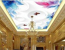 Lqwx Custom 3D Deckenmalereien Muster Tapete Für Badezimmer 3D Deckenmalereien Malerei Tapete An Der Decke 350 Cmx 245 Cm