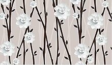 Lqwx Custom 3D Fototapete Für Wohnzimmer Abstrakt Handbemalte Baum Blumen 3D Wandbilder Tapeten Moderne 200 Cmx 140 Cm