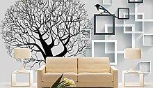 Lqwx Custom 3D Schlafzimmer Tapete Box Baum Baum Hintergrund Wall 3D Photo Wandbilder Vlies Tapete 430 Cmx 300 Cm