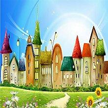 LqwxCustom 3D Wallpaper HD Cartoon Kinder- Schlafzimmer Wohnzimmer Hintergrund Wandmalerei Papel de Parede 3d Wallpaper 400 cmX 280 cm