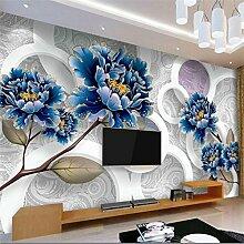Lqwx Custom 3D Wallpaper Home Dekoration Fototapete Mode Gold Pfingstrose Fototapete Papel De Parede Para Quarto-120Cmx100Cm