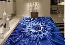 Lqwx Custom Stock Fantasy Blumen Selbstklebende Tapete 3D-Bodenbeläge Tapeten Für Wohnzimmer 3D Stock Stereoskopischen 3D-Wallpaper 120 Cmx 100 Cm