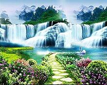 Lqwx Fototapete Für Wände 3D Blumen Bäume Fällt Landschaft Hintergrund Gemälde Papel Pintado Pared Wallpaper-430 Cmx 300Cm