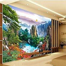 Lqwx Großes Wandbild Tapeten für Wände 3D-TV-Kulisse wallpaper für Wohnzimmer chinesische Landschaften Yingkesong papel de Parede-400 cmX280 cm