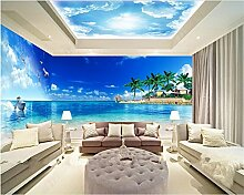 LqwxHigh Fashion geeignet für Innen Dekoration Malerei wallpaper Thema Ozean Raum voller Hintergrund papel de Parede-200cmX 140cm