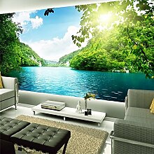 LqwxHome Dekoration Foto Hintergrund Landschaft Natur See mit der Natur Büro Schlafzimmer 3d 3d Wallpaper-300cmX210cm