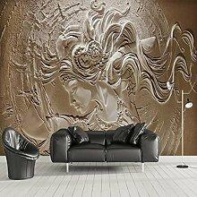 Lqwx Home Improvement Malerei Wallpaper für Wände 3d Seidentapeten TV Hintergrund Tapete 3D Relief beautydecoration-200cmX 140cm