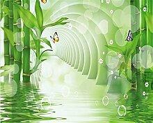 Lqwx Jede Größe 3D Bambus Wald Reflexion Schlafzimmer Tv Hintergrundbild Home Dekoration Wohnzimmer Wallpaper-250Cmx175 Cm Anpassen