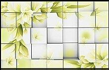 Lqwx Moderne Leaf Wallpaper Für Wohnzimmer Mode Stereoskopischen 3D-Wallpaper Wandbilder Für Home, Hotel, Cafe, Bar Dekoration 400 Cmx 280 Cm