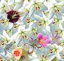 Lqwx Moderne Tapeten Für 3D-Stock Custom Lily Flower Wallpaper Wasserdicht Selbstklebendes Vinyl Wallpaper 400 Cmx 280 Cm