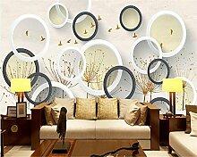 LqwxNeue Tapeten schöne abstrakte Löwenzahn runde Hintergrund wand Wohnzimmer Dekoration Malerei papel de Parede-200cmX 140cm