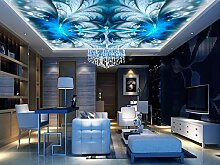Lqwx Passen Sie Hochwertige 3D-Wand Papier Für Decke Bluelover 3D Deckenmalereien Hintergrundbilder Für Wohnzimmer 3D-Decke Wallpaper 200 Cmx 140 Cm