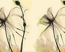 LqwxTapete für abstrakte floral transparent Blume TV Schlafzimmer Wohnzimmer Hintergrund Wand papel de Parede 3D Wallpaper-350 cmX 245 cm