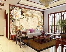 Lqwx Tapeten Fashion Marmor Rose TV Wand Hintergrund Tapete für Wände 3d Papel de parede Foto Wandbild Tapeten-120cmX100cm