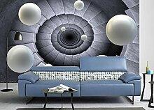 Lqwx Wallpaper Für Badezimmer Benutzerdefinierte Papel De Parede 3D-Europeu Hintergrundbild Drehen Die Treppe Zum Ball 3D Wallpaper Wohnzimmer 300 Cmx 210 Cm.