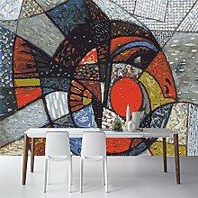 Lqwx Wallpaper Street Graffiti Geometrische Fisch Foto Hintergrund 3D Wohnzimmer Schlafzimmer Dekoration Wallpaper Für Wände 3 D-430 Cmx 300Cm