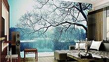Lqwx Wand Tapete 3D Foto 3D Wandbild Tapeten Für Wohnzimmer Schneeflocken Tapete Nicht Traum - Gewebt Schlafzimmer Tapete 350 Cmx 245 Cm