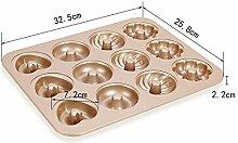 Lrbbq Backblech 12 Sogar Antihaft-Donut-Cookie