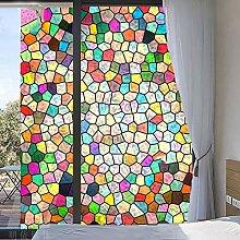 LRQY Milchglasfolie Fensterfolie Bunt Bad
