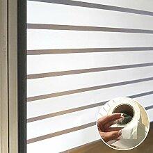 LRQY Weiß Streifen Milchglasfolie Fensterfolie