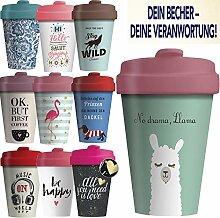 LS-Design Coffee to Go Becher 400ml Drama Lama