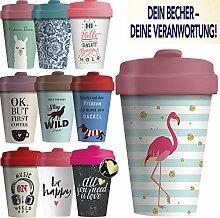 LS-Design Coffee to Go Becher 400ml Flamingo