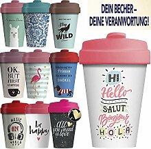 LS-Design Coffee to Go Becher 400ml Salut Bonjour