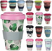 LS Design Öko Coffee to Go Kaffe Tee Becher eCoffee Bamboo Bambus Cup Good Tropical - Edition 2018
