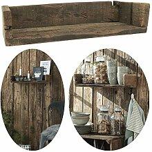 LS-LebenStil Holz Wand-Regal Ziegelform Braun 45cm