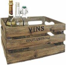 LS-LebenStil Weinkiste Mittel Holz-Kiste Regal