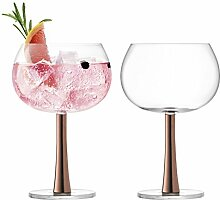 LSA GN12 Gin-Ballon-Glas, 420 ml, Kupfer, 2 Stück