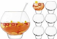 LSA International G1570-00-301 Rum Punchbowl Set,