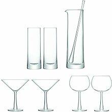LSA International Gin Cocktail Set transparent, Set von 7