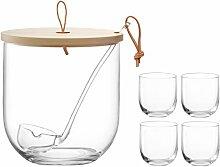 LSA International Ivalo Bowle-Set aus Glas mit