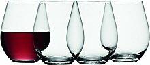 LSA Weinglas ohne Stiel 530ml klar 4er Se