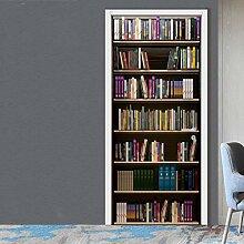 LSAltd DIY Bücherregal Wandsticker Tür