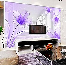Lsfhb Lila Blumen Weiß Korridor Wandbild