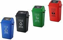 LSHWHT HWH Kunststoff Mülleimer, Sortieren und