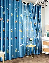 Lsimeru Blau Gardinen Kinderzimmer Jungen