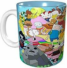 Lsjuee Adventure Time Becher Keramik Kaffee Tee