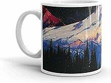 Lsjuee Blue Ridge Mountains Becher 11 Unzen Keramik