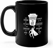 Lsjuee Coffee To Go Cartoon Becher 11 Unzen Keramik