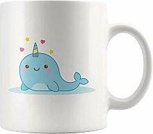Lsjuee Cute Narnicorn Keramik Kaffeetasse Save
