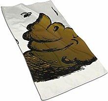 Lsjuee Feces CartoonKüchen Handtuch-Geschirrtuch,
