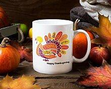 Lsjuee Herbst Thanksgiving Kaffeetasse, Türkei