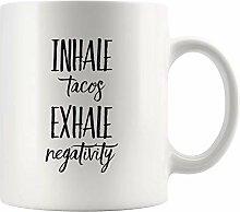 Lsjuee Inhale Tacos Ausatmen Negativität Weiß 11