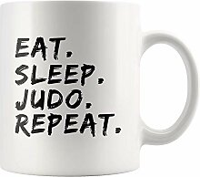 Lsjuee Judo Master Sensei Becher Essen Schlaf Judo